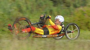 Sergio Garrote, compitiendo en el último Mundial de carretera.