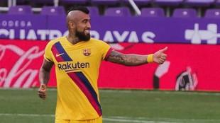Arturo Vidal, tras el gol contra el Valladolid