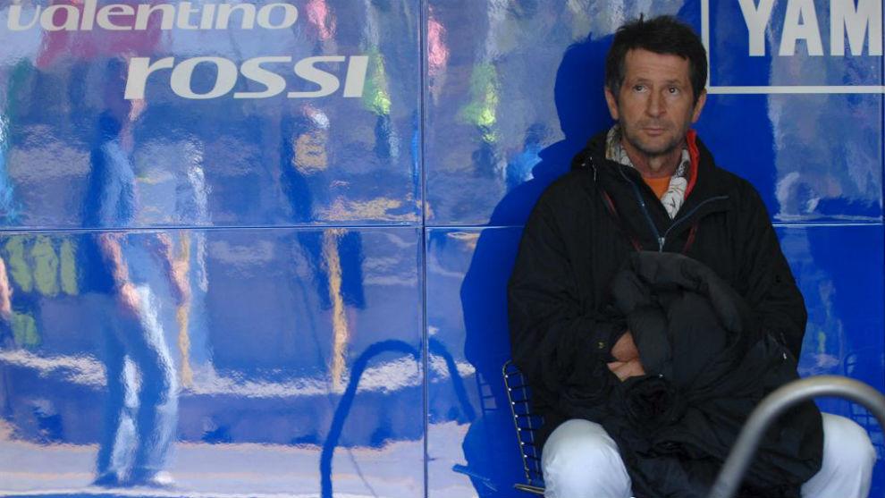 Graciano Rossi, en el box de su hijo.