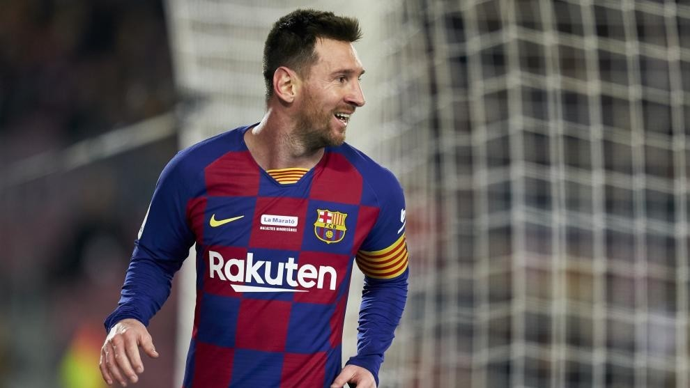 Leo Messi, en un partido del Barcelona