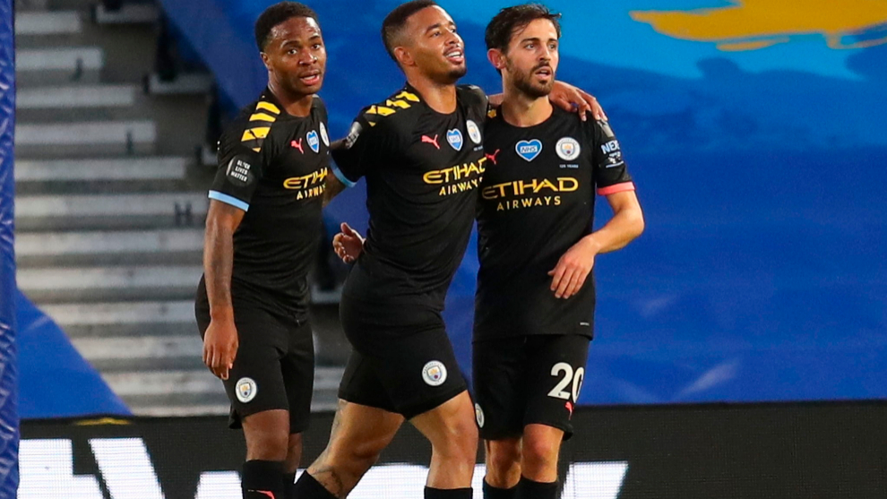 Sterling, Gabriel Jesus y Bernardo Silva, los tres goleadores contra...