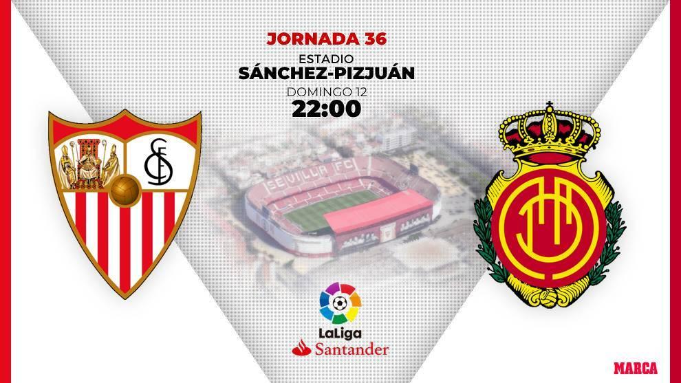 Horario y dónde ver por television el Sevilla - Mallorca.
