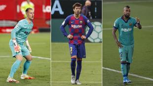 Ter Stegen, Piqué y Vidal