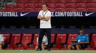 Alexis Trujillo (54), técnico del Betis, en el partido frente al...