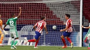 Diego Costa celebra el tanto que marcó.