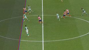 El VAR anula el fuera de juego más milemétrico de Morata