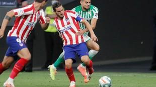 Koke da el pase en el gol anulado a Morata.