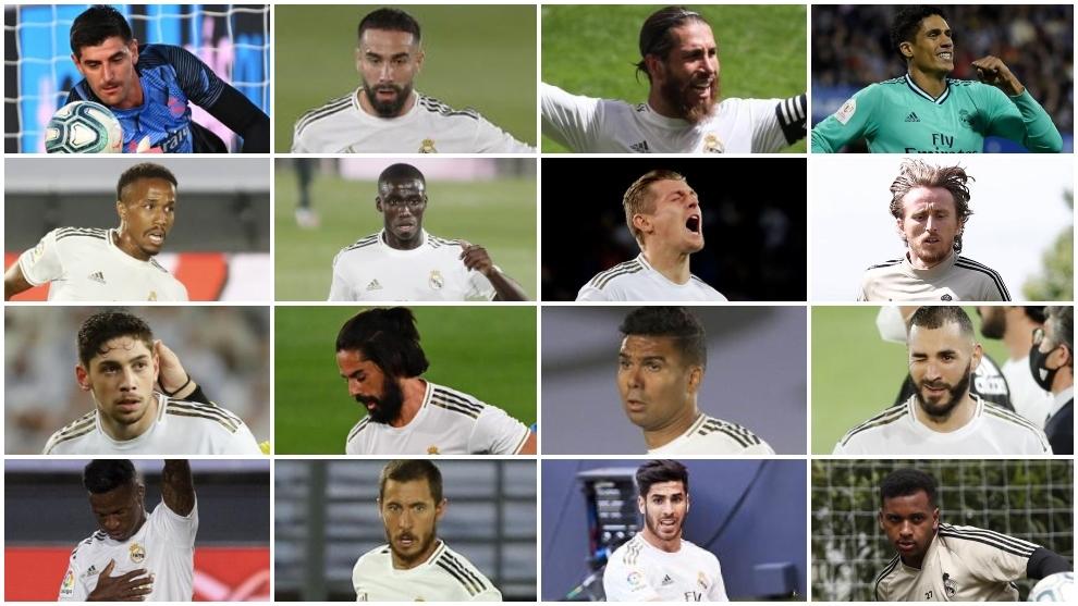 Los 16 titulares de Zidane para el esprint final por LaLiga