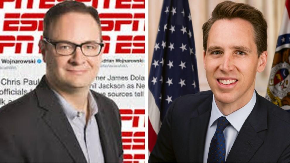 A la izquierda, Adrian Wojnarowski, periodista de ESPN; a la derecha,...