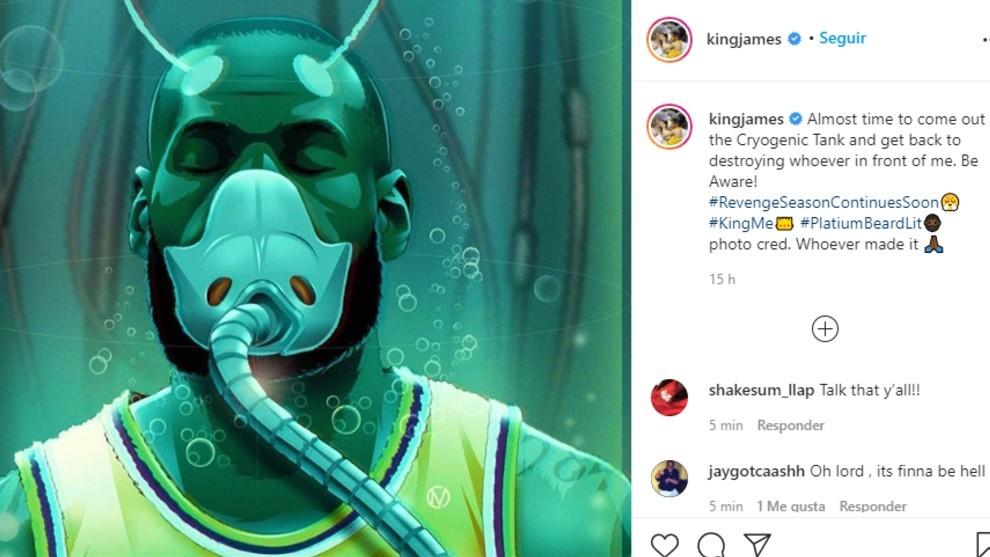 Este es el mensaje desafiante que lanzó LeBron en sus redes sociales.