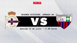 Deportivo - Extremadura: horario y donde ver por televisión hoy el...