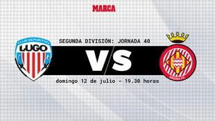 Lugo - Girona: horario y donde ver por television hoy el partido de La...