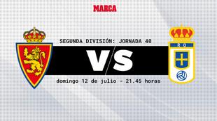 Zaragoza - Oviedo: horario y donde ver por television hoy el partido...