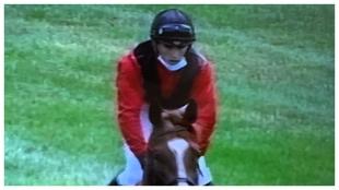 Jaime Gelabert montando a Abu en el Derby