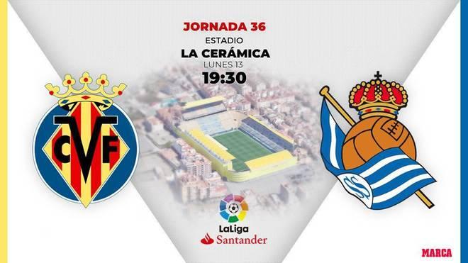 Alineaciones confirmadas del Villarreal - Real Sociedad: Alcácer empieza en el banquillo