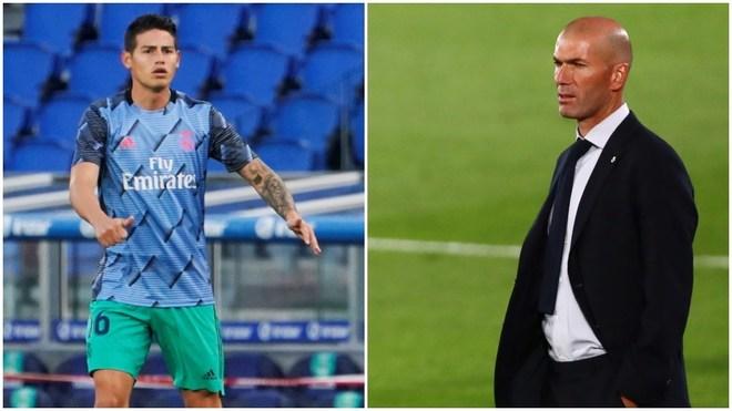El técnico del Real Madrid habla sobre el futbolista colombiano.