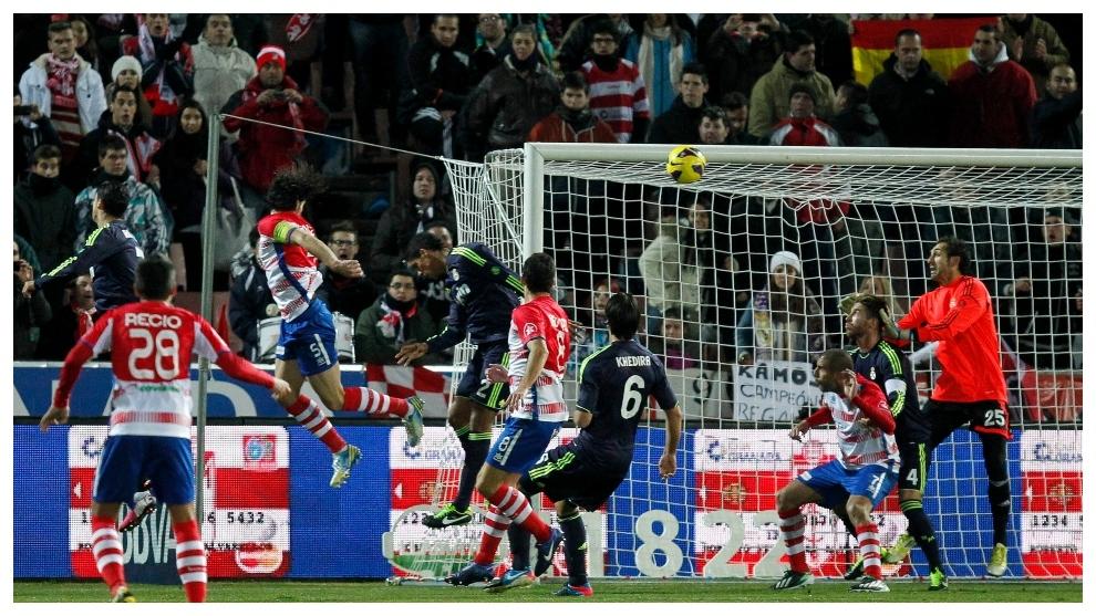 El despeje de Cristiano que se convirtió en gol.
