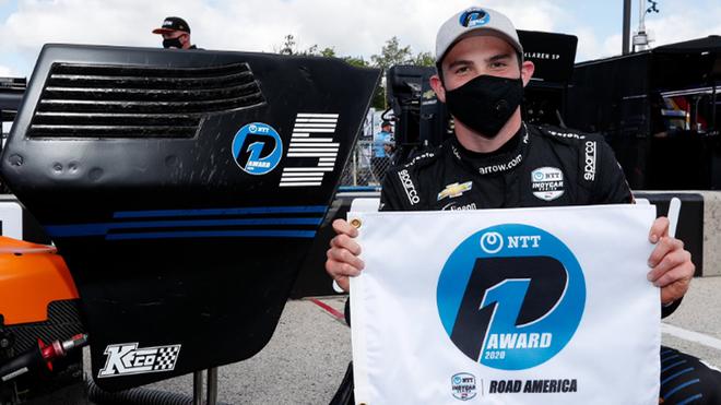 Patricio O'Ward se queda con el segundo lugar en la IndyCar.