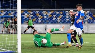 El gol de Di Lorenzo al Milan