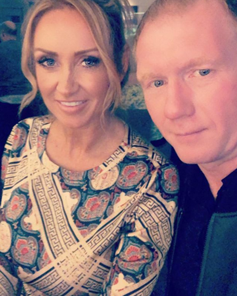 Paul Scholes and Claire when they were happy