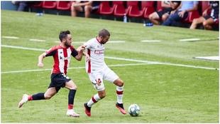 Unai López, durante el partido contra el Mallorca.