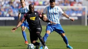 Partido de la primera vuelta entre Málaga y Sporting
