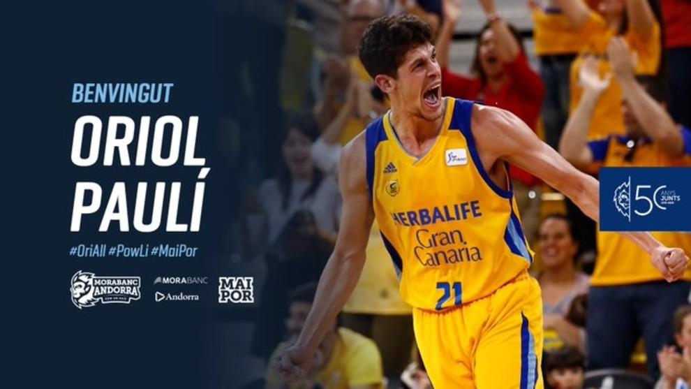 Oriol Paulí firma por tres temporadas con el MoraBanc Andorra