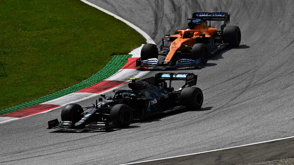 Bottas, por delante de Sainz.