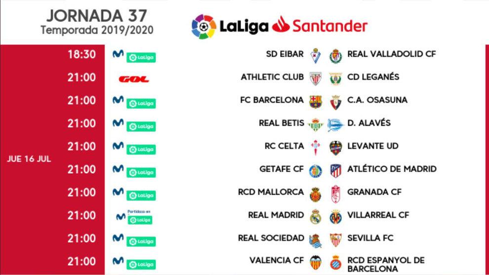 Solo un intrascendente Eibar-Valladolid cambia de horario en la jornada 37