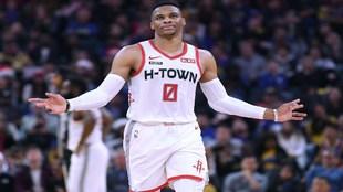 Westbrook, en un partido con los Rockets