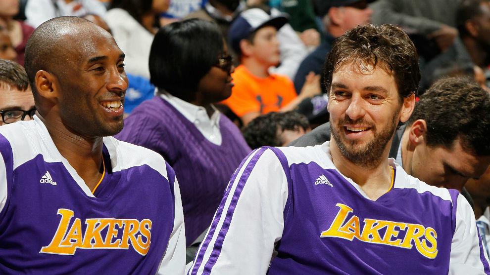 Kobe Bryant y Pau Gasol, en un partido de los Lakers