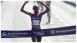 Brigid Kosgei, vencedora el año pasado en Chicago