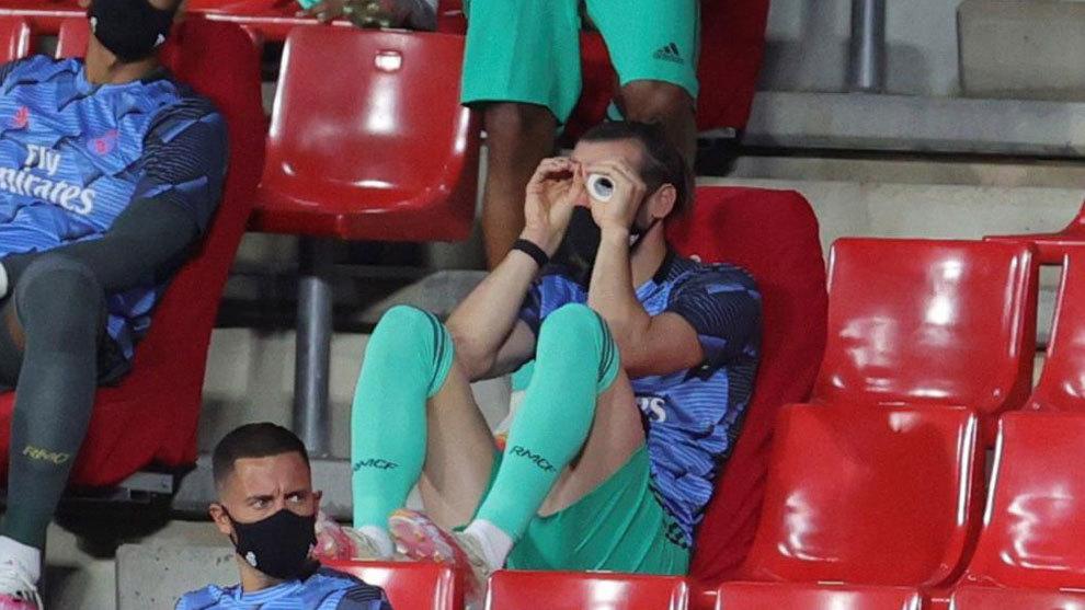 Bale, durante el partido ante el Granada