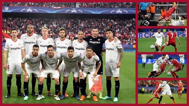 Eliminatoria del Sevilla frente al Bayern en la 2017-18.