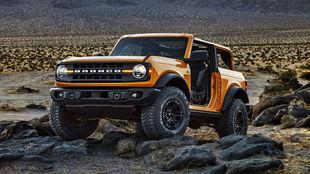 El Ford Bronco con carrocería de dos puertas.