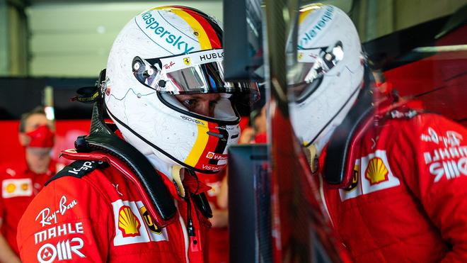 Sebastian Vettel en el Gran Premio de Estiria con Ferrari.
