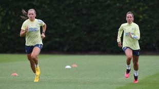 Jugadoras del Arsenal en una sesión de entrenamiento de la...