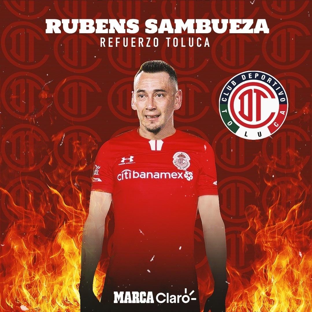 Rubens Sambueza regresa a los Diablos Rojos de Toluca
