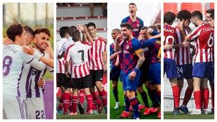Valladolid Promesas, Bilbao Athletic, Barça B y Atlético B son los...