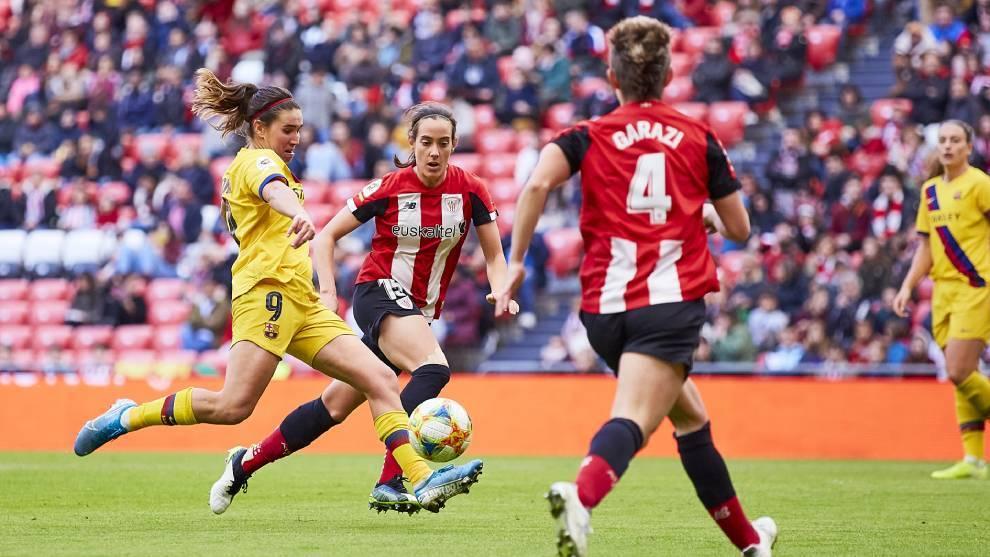 Partido entre el Barça y el Athletic Femenino