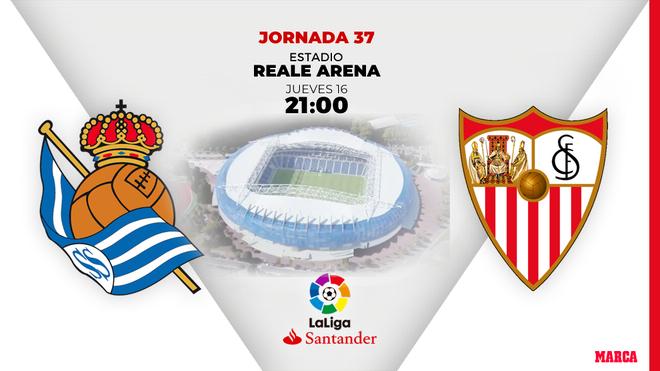 Real Sociedad - Sevilla: Horario y dónde ver en directo por TV el partido de la jornada 37