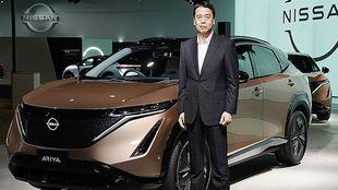 El CEO de Nissan, Makoto Uchida, durante la presentación mundial del...