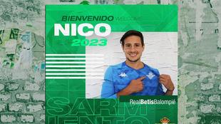 Nico Sarmiento, nuevo portero del Betis