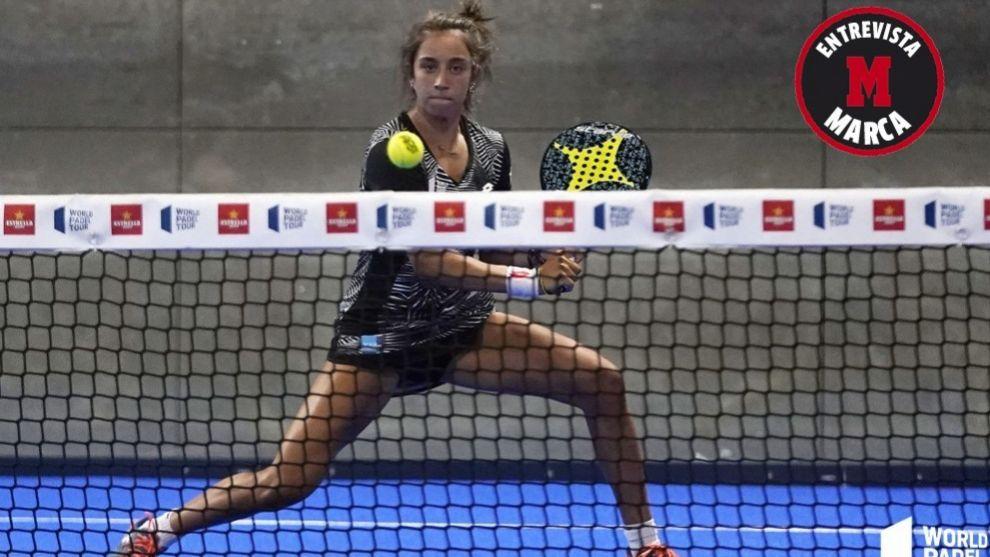 Bea González, durante un partido esta temporada.