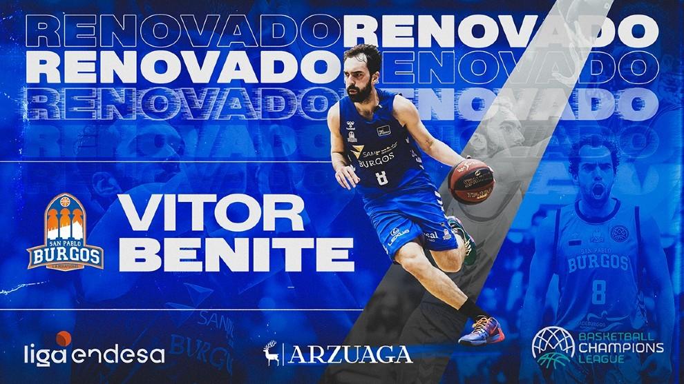 Benite sella su renovación por dos temporadas con el San Pablo Burgos