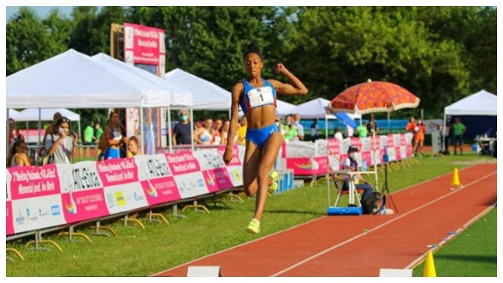 Larissa Iapichino en una competición.