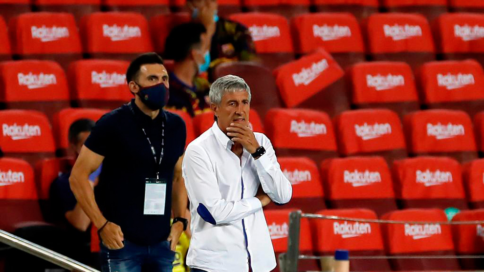 Setien: I hope to coach Barcelona in the Champions League, but I don't know...