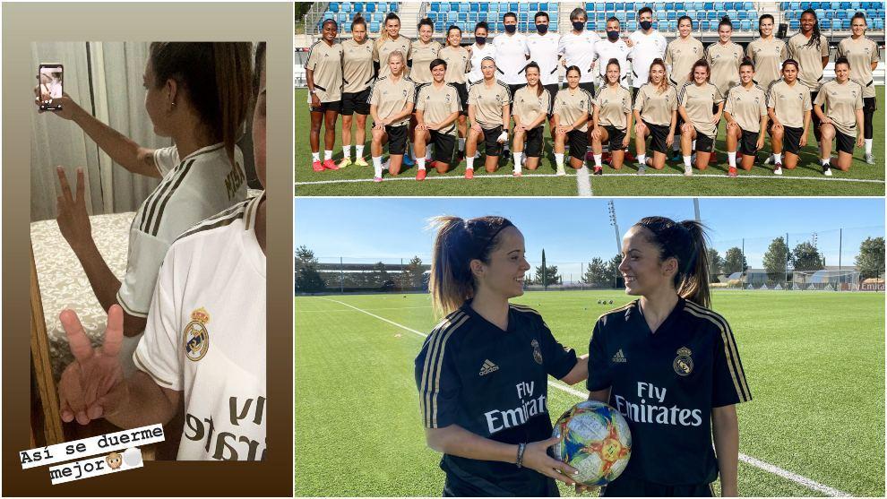 Las jugadoras del Real Madrid felicitan a sus homólogos por el título de Liga