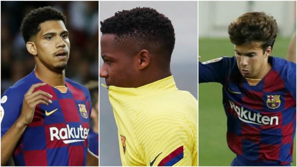 Setién no quiere que Ansu Fati, Riqui Puig y Araujo jueguen con el filial el play-off de ascenso
