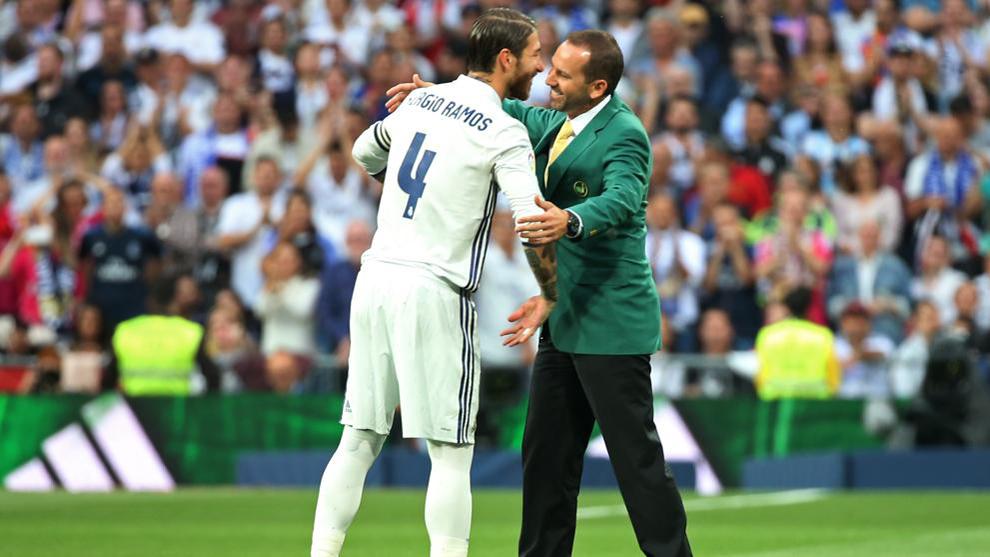 Sergio García fue homenajeado en el Bernabéu cuando ganó el Masters...
